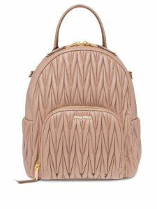 Miu Miu matelassé backpack - Neutrals