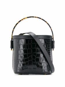 Nico Giani crocodile effect buckle bag - Black