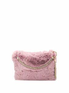 Jimmy Choo Callie fur tote - Pink