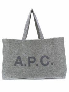 A.P.C. oversized felt tote - Grey