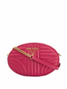 Prada diagram oval shoulder bag - Pink