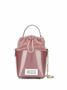 Maison Margiela logo patch bucket bag - Pink