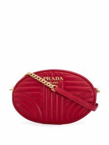 Prada diagram oval shoulder bag - Red