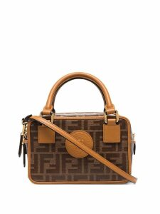 Fendi mini Boston FF box bag - Brown