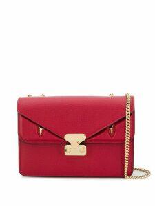 Fendi FF foldover detail shoulder bag - Red