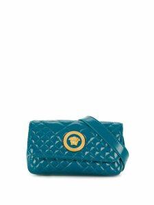 Versace quilted medusa head belt bag - Blue