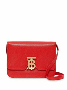 Burberry Small Grainy Leather TB Bag - Red