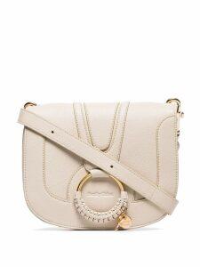 See By Chloé hoop-embellished shoulder bag - Neutrals