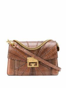 Givenchy embossed GV3 shoulder bag - Brown