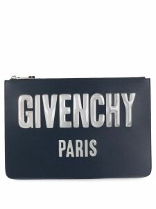 Givenchy logo zipped pouch - Blue