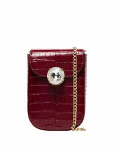 Miu Miu Bandoliera crystal-embellished bag - Red