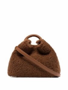 Elleme Bazoi shearling wool tote - Brown