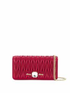 Miu Miu matelassé cross body bag - Red