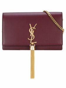 Saint Laurent Monogram tassel shoulder bag - Red