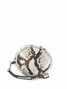 Alexander Wang snakeskin printed clutch bag - Grey