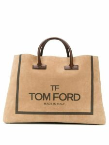 Tom Ford oversized logo tote - Neutrals