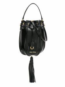 Miu Miu Matelassé leather bucket bag - Black