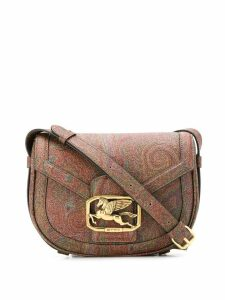 Etro Pegaso Paisley shoulder bag - Brown