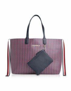 Tommy Hilfiger Designer Handbags, Monogram Iconic Tommy Small Tote Bag