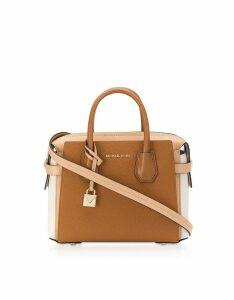 Michael Kors Designer Handbags, Three-Tone Mercer Belted Small Satchel Bag