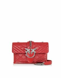 Pinko Designer Handbags, Mini Love Soft Mix Crossbody Bag