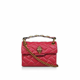 Kurt Geiger London Lthr Mini Kensington Eye - Red Mini Studded Shoulder Bag