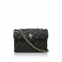 Kurt Geiger London Leather Kensington X Bag - Black Studded Shoulder Bag
