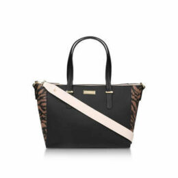 Carvela Belinda Tricolour Tote - Black And Animal Print Tote Bag