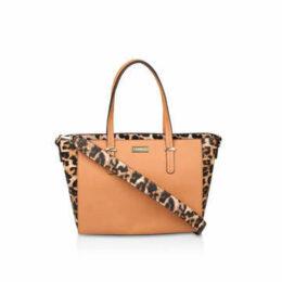 Carvela Belinda Tricolour Tote - Tan And Leopard Print Tote Bag