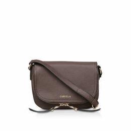 Carvela Soula Saddle Zip Xbody - Brown Cross Body Bag