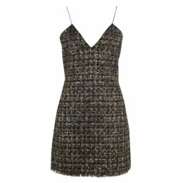 Balmain Short Sequinned Tweed Dress