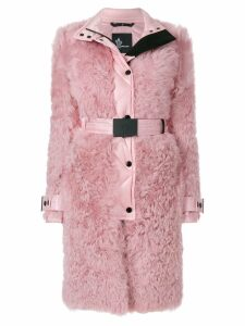 Moncler Grenoble shell trim shealing coat - Pink