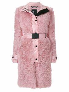 Moncler Grenoble shell trim shealing coat - Pink