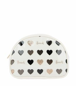 Glitter Hearts Cosmetic Bag