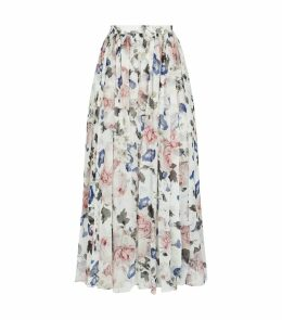 Lindie Silk Pleated Skirt