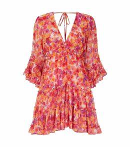 Yasemin Floral Ruffled Mini Dress