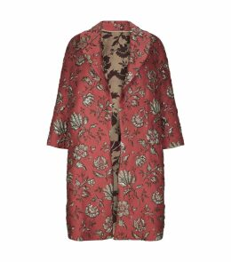 JacquardFloral Coat