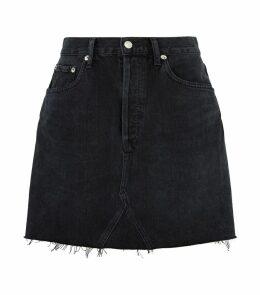 Ada Distressed Denim Skirt