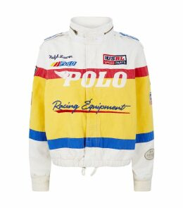 Canvas Racing Bomber Jacket