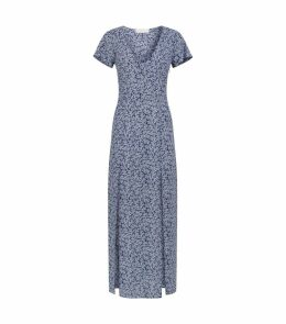 Coral Print Maxi Dress