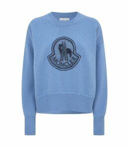 Wool-Cashmere Logo Sweater