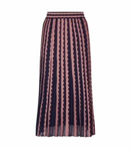 Wave Textured Midi Skirt
