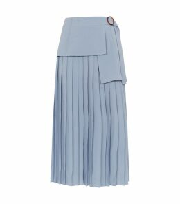 Peplum Pleated Skirt