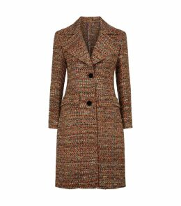 Tweed Large Lapel Coat