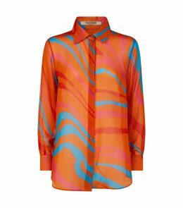 Abstract Print Lightweight Shirt