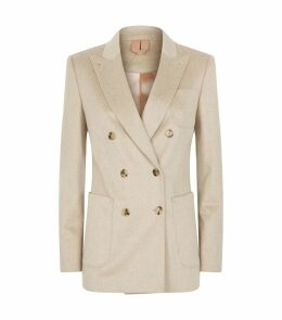 Cashmere Double-Breasted Blazer