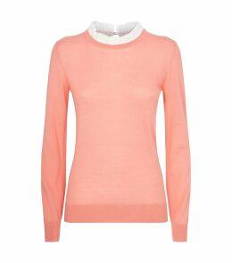 Lace Trim Knit Sweater