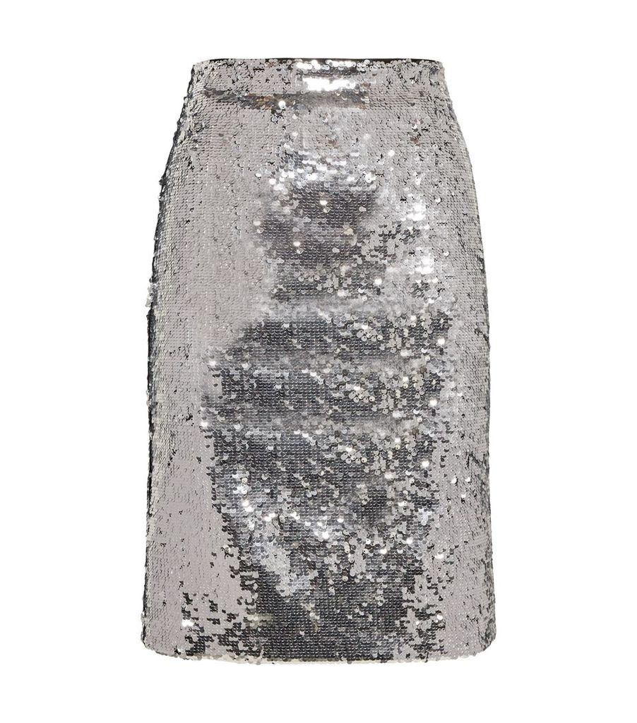 Ramos Fitted Sequin Skirt