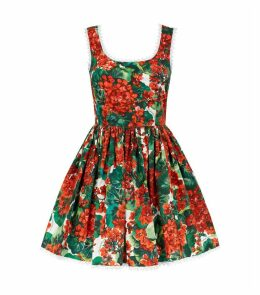 Floral Scalloped Dress