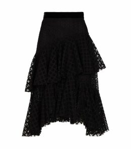 Tiered Ruffle Midi Skirt